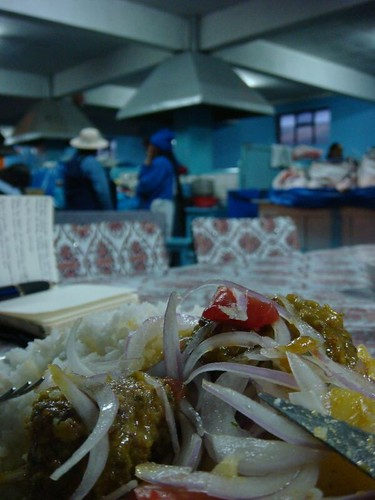 Lunch at the mercado municipal...Potosi - Bolivia.