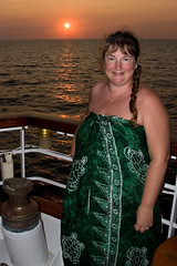 Debbie Sunset IMG_5051 (SunCat) Tags: travel cruise sunset vacation woman star clothing friend girlfriend europe all sailing bare bbw croatia spouse wife naturist debbie sweetheart lover mate 2008 companion sarong clipper soulmate optional pareo necessities starclipper braless clothingoptional barenecessities confidante so eoshe