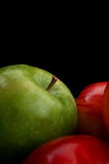 Apple of my Eye (elisabeth adams) Tags: autumn red stilllife green apple nature fruit garden artistic expression harvest apples upclose appleofmyeye onblack foodanddrinks artisticexpression anappleaday professionalphotographers sooc passionphotography mywinners abigfave platinumphoto visiongroup heartawards betterthangood spiritofphotography phenomenalpictureperfect quotidiae masterpiecesonblack sfondomonochromatico