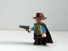 Clint Eastwood (Dunechaser) Tags: lego navy prototype weapon pistol western accessories minifig minifigs revolver custom wildwest colt clinteastwood weapons prototypes sergioleone accessory 1861 manwithnoname brickarms
