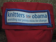 Knitters for Obama on my bag