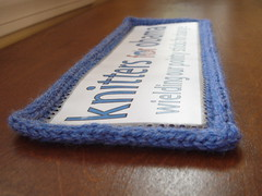 Knitters for Obama, embellished