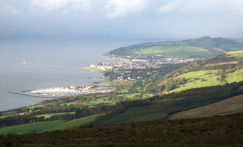 Largs from Kaim hill