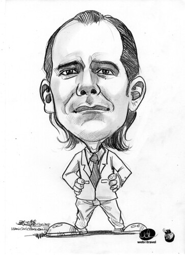 Caricatures Web in Travel 2008 Brett Henry