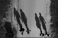 Four shadow people discuss the infestation (Now and Here) Tags: shadow people blackandwhite bw garbage fb path walk sony can alpha dslr 3x2 mostviewed a300 fav5 view500 fave5 fave10 view150 cmwdblackandwhite sonydslra300 nowandhere davidfarrant