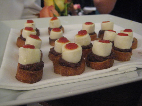 Olive Tapenade Crostini with Goat Cheese and Pimento