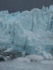 Marjarie Glacier, calving (mtpaperplayer) Tags: blue alaska glacier