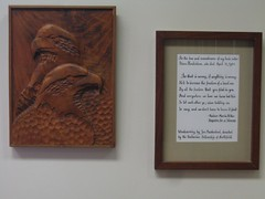 "Title: ""Woodcarving""Sculptor: Jon MaakestadAccessible to Public: yes, indoorsLocation: Northfield Public LibraryOwnership: Northfield Public LibraryMedium: woodDimension: 12"" x 18""Provenance: gift of the Unitarian Fellowship of NorthfieldYear of Installation:1984Physical Condition: good"