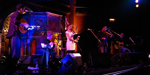 Julie Fowlis and Band with added bagpipes