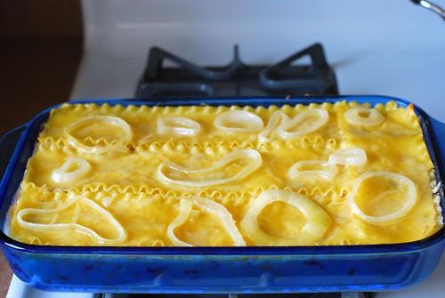 Pierogi casserole, baked.