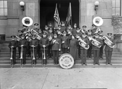 Salvation Army band, 1927 (Seattle Municipal Archives) Tags: seattle 1920s musicians salvationarmy performingarts bands performers se