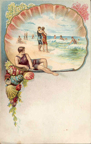 Vintage beach themed postcard