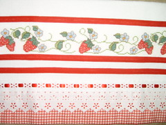 Pano de prato bordado em ponto cruz (Lila Bordados em Ponto Cruz) Tags: