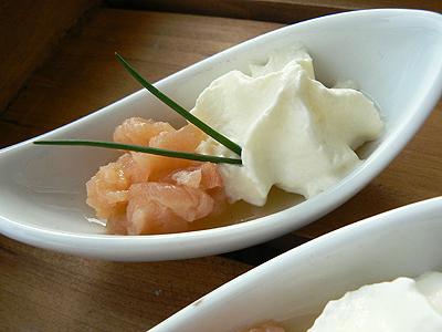 saumon +crème +ciboulette