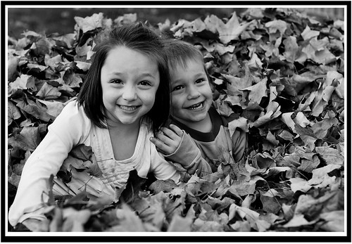 Kids black and white