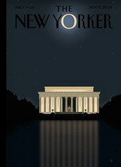 'New Yorker' Cover: 'Reflection' - Barack Obama Victory Cover by Bob Staake (artcafe2008) Tags: president lincolnmemorial africanamerican martinlutherking barackobama newyorkercover bobstaake