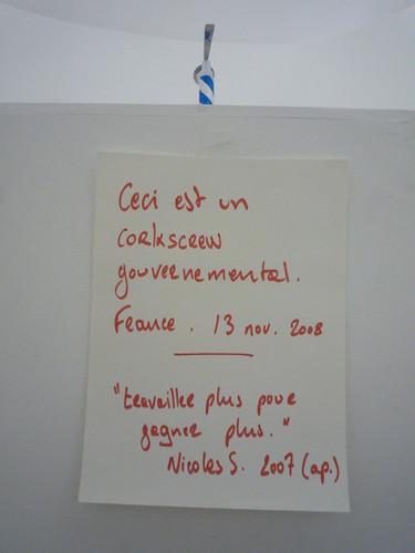 Guillaume Dimanche - Corkscrew gouvernemental 4 par vous