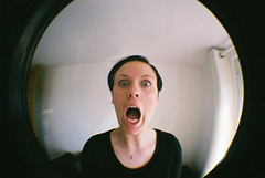 fish mouth (the brownhorse) Tags: film home lomo brighton fisheye alison upclose lomofisheye mrsbrownhorse 20080416lomofisheye00130