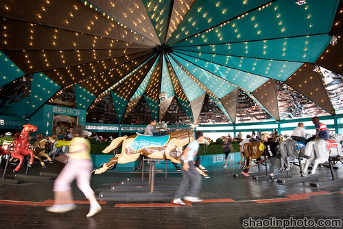 Blackpool Pleasure Beach - Derby Racer Carousel