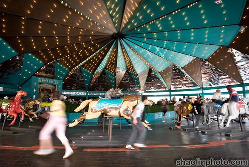 Blackpool Pleasure Beach - Derby Racer Carousel