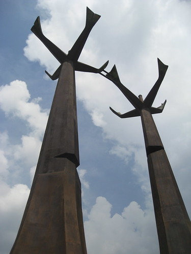sculpture in Medellin, Colombia