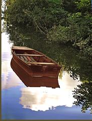 small boat on the Danube. ~ ladik a Dunai ártérben (gdraskoy) Tags: hungary 2006 duna smallboat digitalcameraclub csónak kalocsa kartpostal ártér theunforgettablepictures llovemypic rubyphotographer qualitypixels meszes floodcatchmentarea