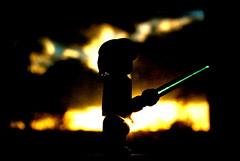A little Lego fun (Gaetan Lee) Tags: light shadow sun up yellow sepia star close lego fig action mini sharp figure wars 2008