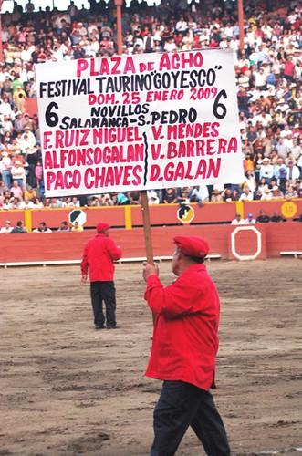 Cartel Festival taurino Acho 2009