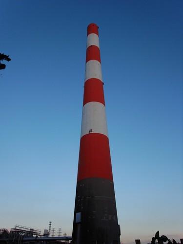 ゴミ処理場の煙突