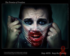 The Promise of Freedom. (SaylaMarz) Tags: me blood aids hiv politics makeup horror macabre awareness healthcare explored