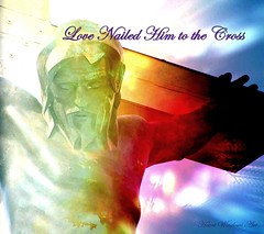 Love Nailed Him to the Cross (Heart Windows Art) Tags: life love poster christ cross michigan picasa down christian bible sensational laid verse nailed indianriver crossinthewoodsshrine inspiks|inspirationalpictures graphicmaster heavenlycaptures
