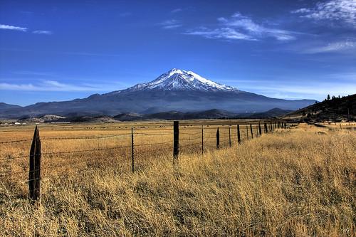 Mount Shasta w fence 2