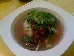 Thai Kobe beef noodle soup at NDD