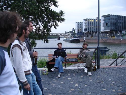 Hafenkonzert Knüppel Schmitt am Westhafen. August 2006
