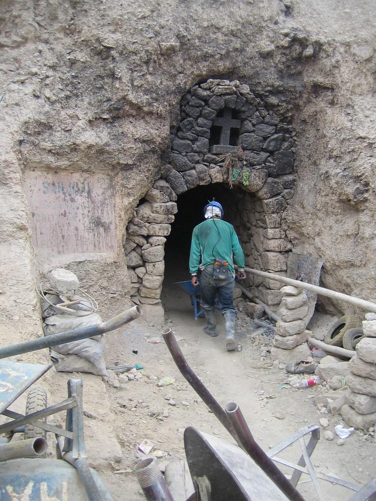 Entrance to Potosi Mines, Cerro de Potosi, Bolivia