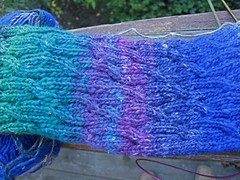 Cabled sock in Noro Silk Garden Sock