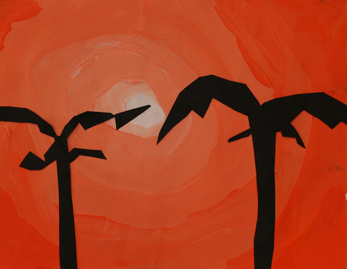 Kemon's Palm tree silhouettes