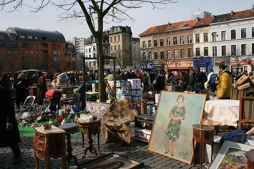 Flea Market at Place De Jeu de Balle