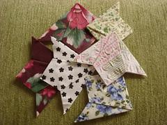 Marcador de Pginas (MarieLa - Papel de Pano) Tags: origami cola livro papel presente tecido leitura marcadorpginas
