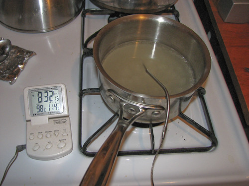 Heating the sugar