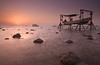 Sunrise @ Askar (©Helminadia Ranford) Tags: seascape nature beautiful sunrise photography boat bahrain country arabic memory passion lowtide askar helminadia theplaceiliketogo