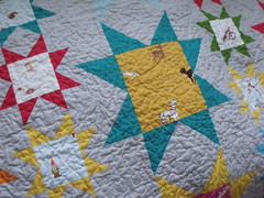 Heather Ross sawtooth star quilt for my brother (_name_taken_) Tags: quilt olivers cityweekend munkimunki heatherbailey heatherross sawtoothstar lightningbugsandothermysteries lieslgibson tiledprimrose