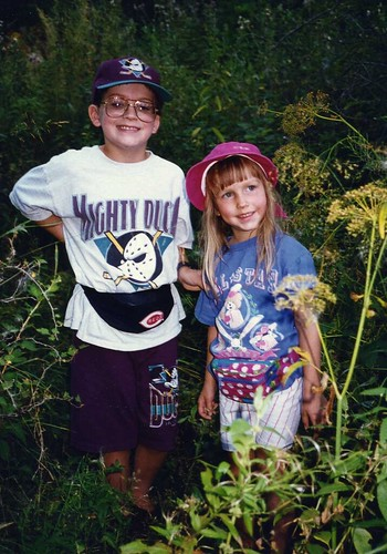 Will (9) and Christina (4) on a nature hike in the Black Hills, 1994.