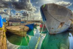 Penzance Dock HDR (hz536n/George Thomas) Tags: england sky boat spring lab cornwall april canon5d hdr penzance kernow smrgsbord 2011 photomatix labcolor ef1740mmf4lusm cs5 photomatix40