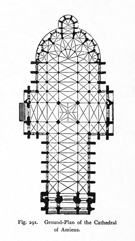 Amiens Cathedral: plan