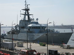 HMS Mersey in Port (MikeBish) Tags: liverpool mersey hms a480