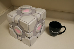 Weighted Companion Cube Cake (mandrake68) Tags: game cake pc video sweet wcc xbox valve cube icing vanilla portal companion fondant buttercream weighted aperturescience wedowhatwemustbecausewecan sugarcade