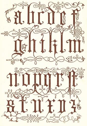 Alfabeto ornamental siglo 16 gravados en madera