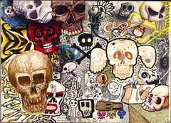 pagina-da-caveira (azucrina) Tags: skull hand az made bone freehand draw desenhos caveira coletivo azucrina