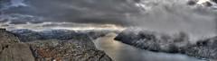 Lysefjorden panorama (Per Erik Sviland) Tags: panorama rock nikon erik per pulpit hdr prekestolen lysefjorden d300 pererik superbmasterpiece sviland sqbbe pereriksviland